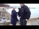 Оксана после купания в море зимой