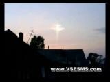 г.Сегежа Утро воскресенье  ул.Линдозерская. Православие .Чудеса . Крест на небе .